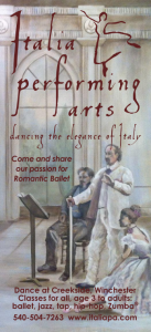 Front of Italia Performing Arts flyer