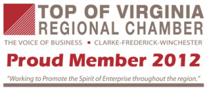 Top of Virginia Regional Chamber Proud Member 2012