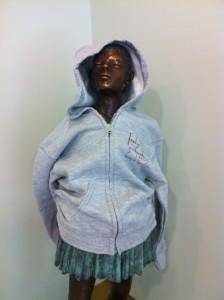 Marie modelling hoody